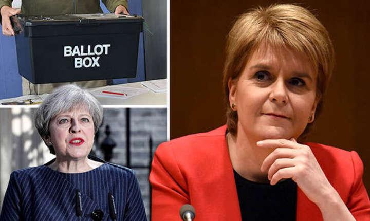 Imagine dedicată anunţului făcut de Theresa May că pe 8 iunie vor avea loc alegeri anticipate. Reacţii Nicola Sturgeon