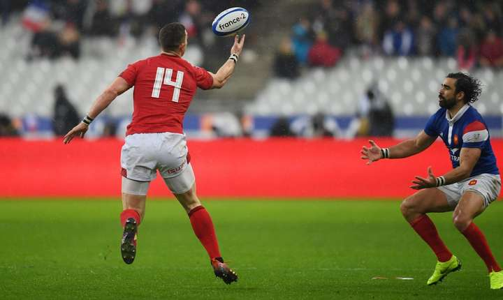 George North (14) și Yoann Huget