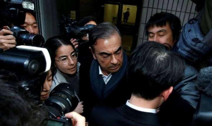 Carlos Ghosn la Tokyo, 12 martie 2019