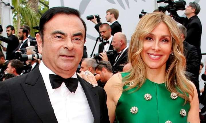 Carlos Ghosn, fostul patron Renault-Nissan, si sotia sa Carole, la festivalul de la Cannes 2017