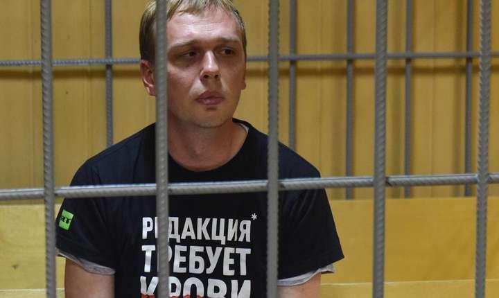Jurnalistul rus Ivan Golunov la tribunalul din Moscova, 8 iunie 2019