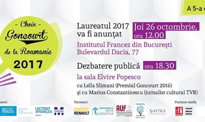 Afiș Premiul Goncourt - Alegerea României, 2017
