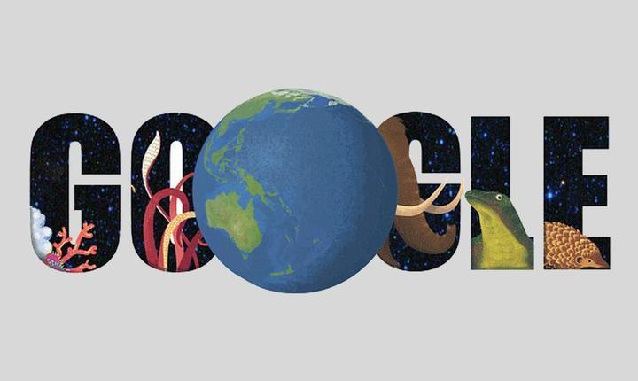 Google şi-a modificat logoul, pentru a sărbători Ziua Pământului 2015.