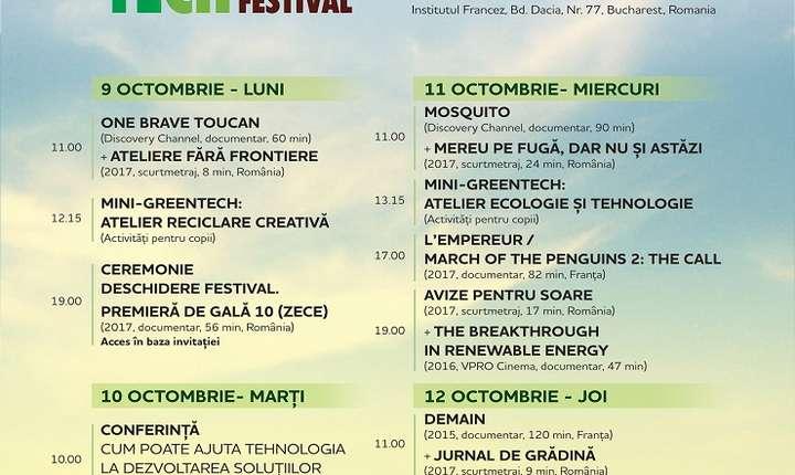 Afiș GreenTech Film Festival