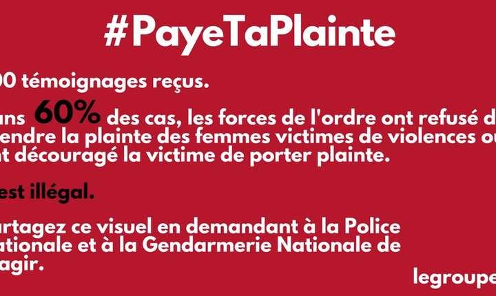 """Mesaj al grupàrii """"Groupe F"""", autoarea raportului privind felul în care politia trateazà plângerile pentru violente sexuale si sexiste"""