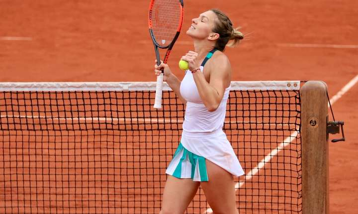 Simona Halep dupà victoria din semifinalà împotriva cehoaicei Katerina Pliskova