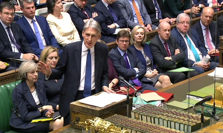 Phillip Hammond în parlament