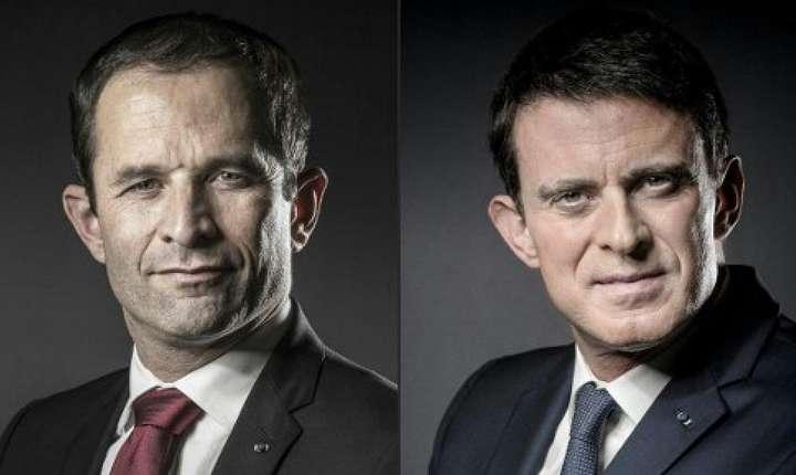 Benoît Hamon si Manuel Valls dezbat miercuri seara la televizor în vederea turului doi al primarelor socialiste