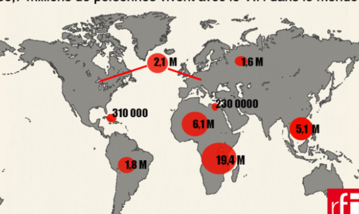 Harta SIDA în lume - raport ONU 2017