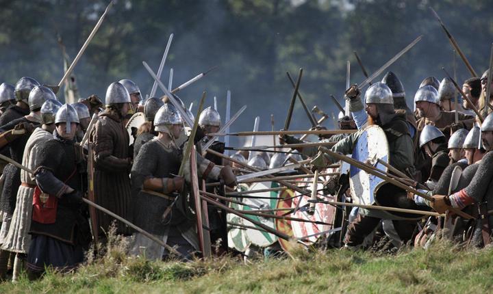 Reconstituirea bătăliei de la Hastings