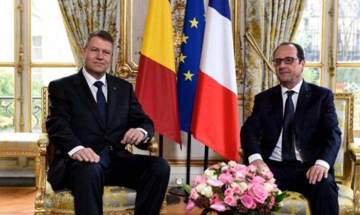 Presedintii Klaus Iohannis si François Hollande