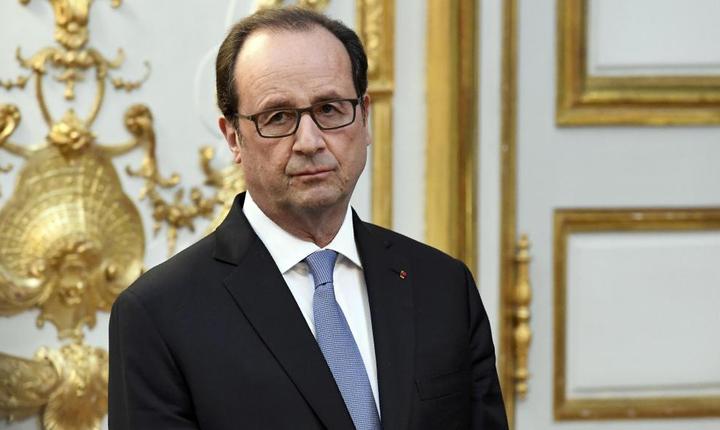 Presedintele François Hollande pe 17 noiembrie 2016 la Palatul Elysée