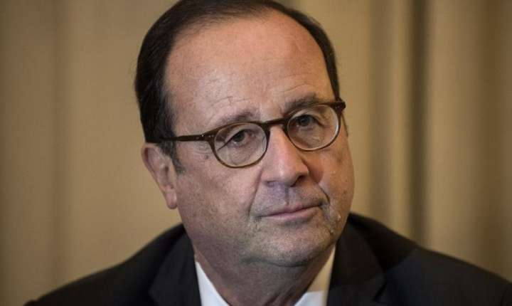 Fostul presedinte francez François Hollande, 15 noiembrie 2018