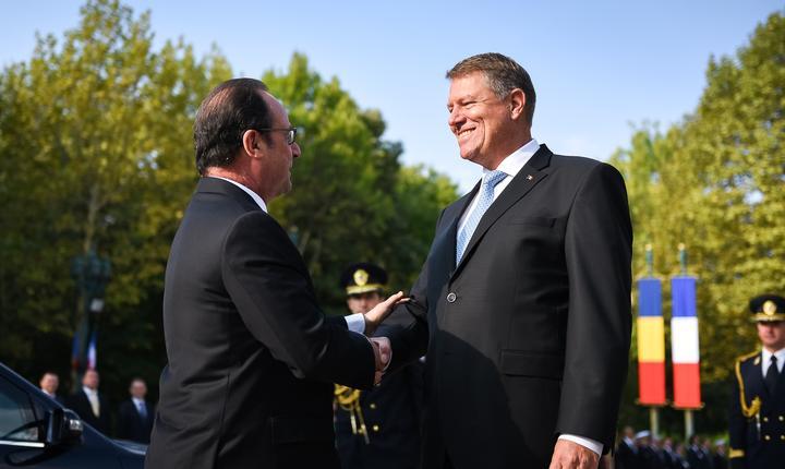 François Hollande, primit de Klaus Iohannis (Foto: www.presidency.ro)