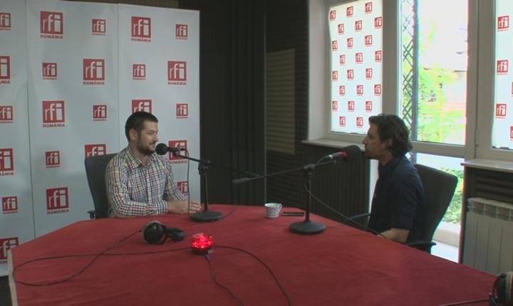 Horia Domnariu si Dan Pavel in studioul RFI Romania