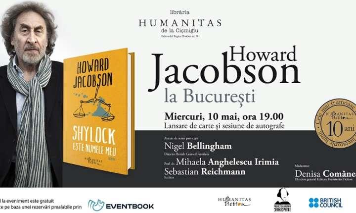 """Afiș Howard Jacobson - autorul romanului """"Shylock este numele meu"""""""