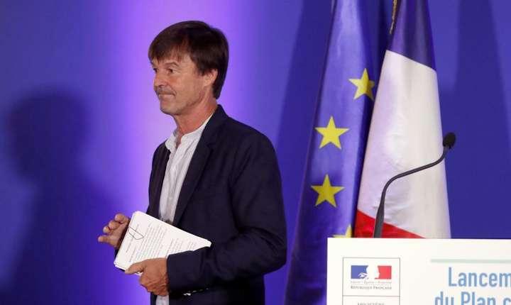 """Nicolas Hulot, ministrul francez al Tranzitiei ecologice si solidare, prezentându-si """"planul climà"""", 6 iulie 2017, Paris"""