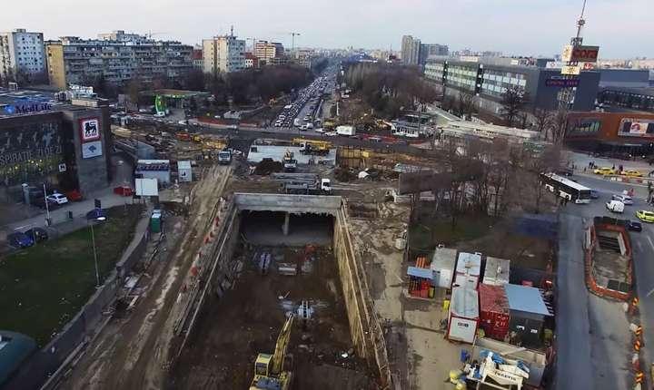 Cum arată lucrările la Pasajul rutier subteran de la Piata Sudului
