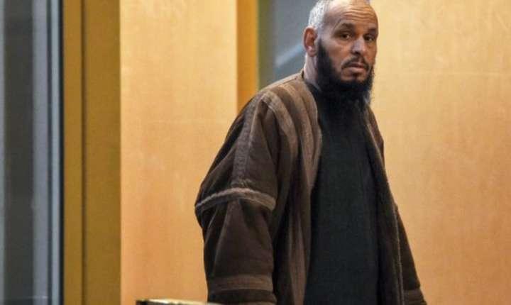 Imamul alegerian El Hadi Doudi la Palatul de Justitie din Marsilia, 8 februarie 2018