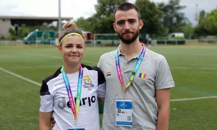 Andrei Ion si Teodora C. participà la a 10-a editie Gay Games care are loc la Paris pânà pe 12 august.