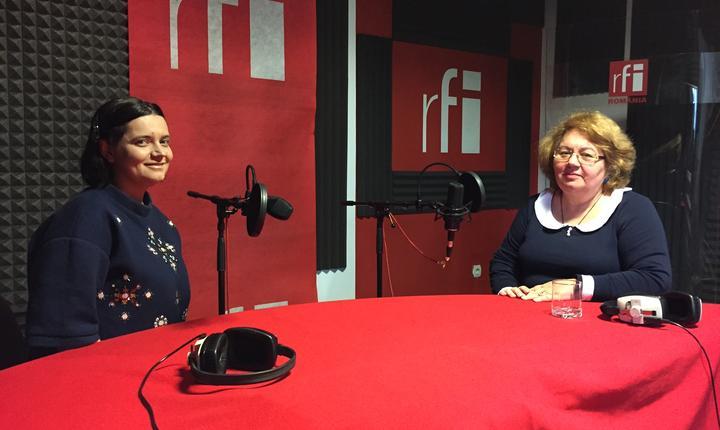 Ana-Maria Caia și Marilena Stoian în studioul RFI România
