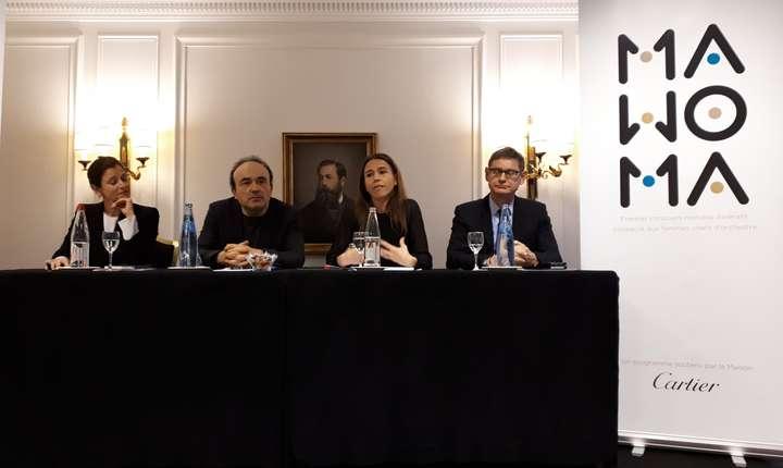 Dirijoarea Debora Waldman, presedintele juriului Frédéric Chaslin, presedinta-fondatoare MAWOMA Clémence Guerrand si Cyrille Vigneron, PDGul firmei Cartier