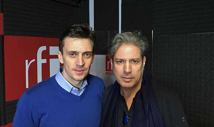 Cătălin Ivan și Nicolas Don in studioul radio