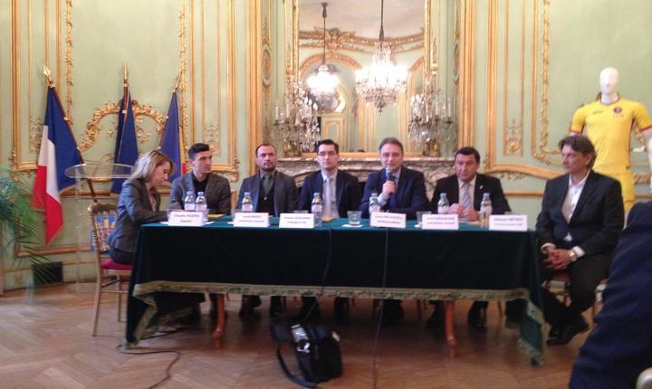 Conferinta de presà a FRF la sediul ambasadei României din Paris