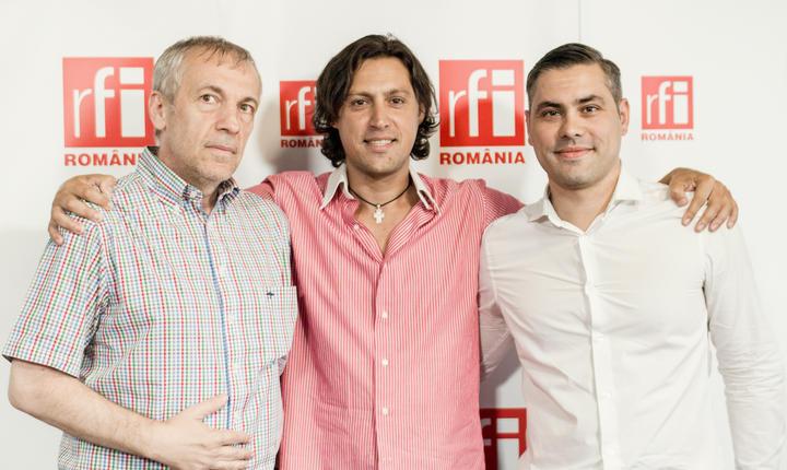 Florin Pârlea, Dan Pavel şi Daniel Dumitrescu in studioul RFI