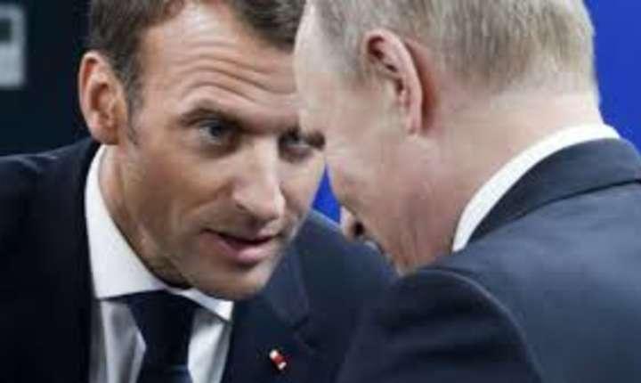 Întîlnire Macron - Putin la Sankt Petersburg, pe 25 mai 2018.