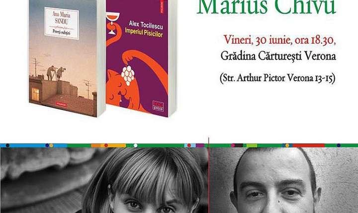 Literary Talk & Reading cu Ana Maria Sandu, Alex Tocilescu, Marius Chivu