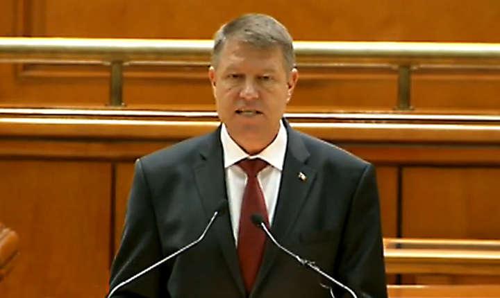Discurs dur in Parlament al presedintelui Klaus Iohannis la adresa PSD