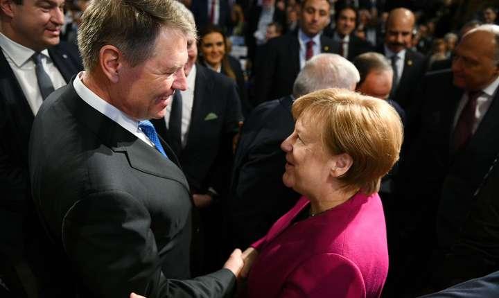 Președintele României, Klaus Iohannis, și cancelarul Germaniei, Agela Merkel