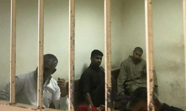 Prizonieri supectaţi că ar fi aparţinut Organizaţiei stat islamic, Bagdad, mai 2018.