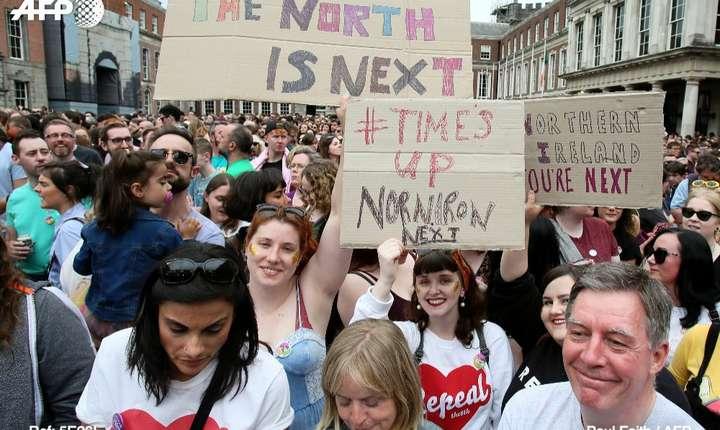 Demonstrație în Irlanda în favoarea legalizării avorturilor