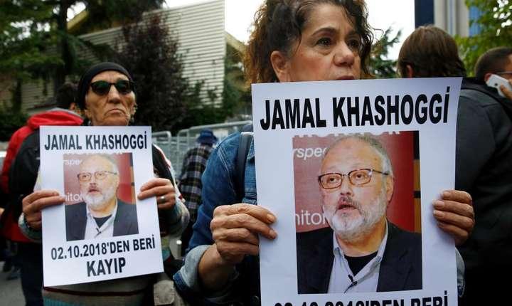 Militanţi pentru drepturile omului în faţa Consulatului Arabiei saudite de la Istanbul