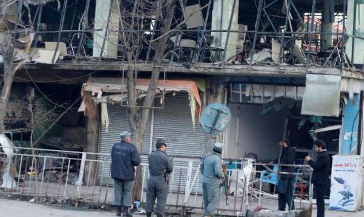 Zona securizata dupa atentatul de la Kabul de pe 27 ianuarie