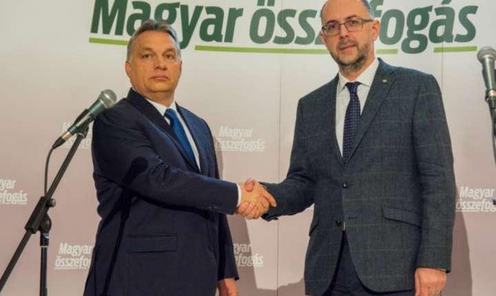 Premierul Ungariei, Viktor Orban şi liderul UDMR, Kelemen Hunor (Foto: site udmr/arhivă)