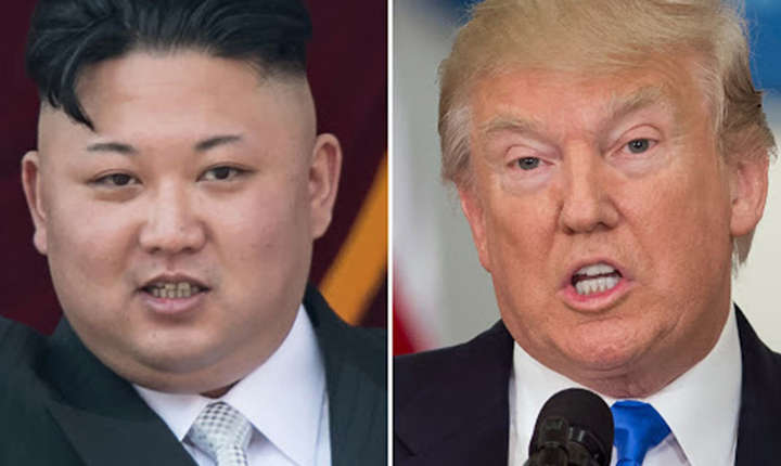 Kim Jong-Un si Donald Trump, presedintii Coreeii de nord, respectiv SUA