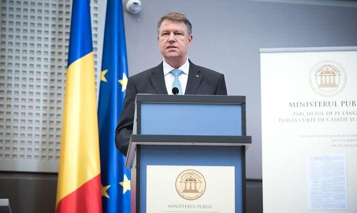 Preşedintele Klaus Iohannis, la bilanţul Ministerului Public, 7 martie 2017 (Sursa foto: www.presidency.ro)