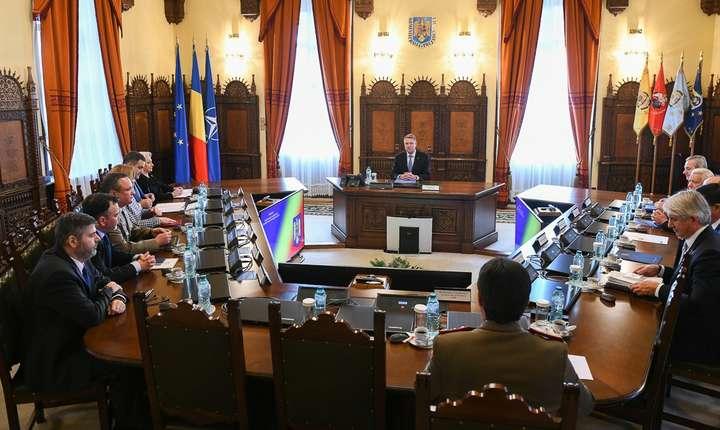 Preşedintele Klaus Iohannis, în şedinţa CSAT (Sursa foto: presidency.ro)