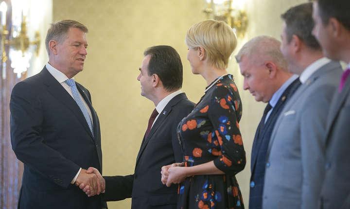 Președintele Klaus Iohannis, aici la discuția cu delegația PNL (Sursa foto: site Președinție)