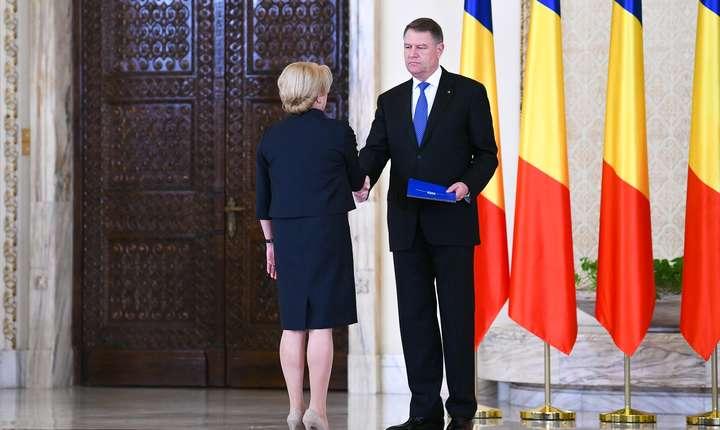 Preşedintele Klaus Iohannis și premierul Viorica Dăncilă