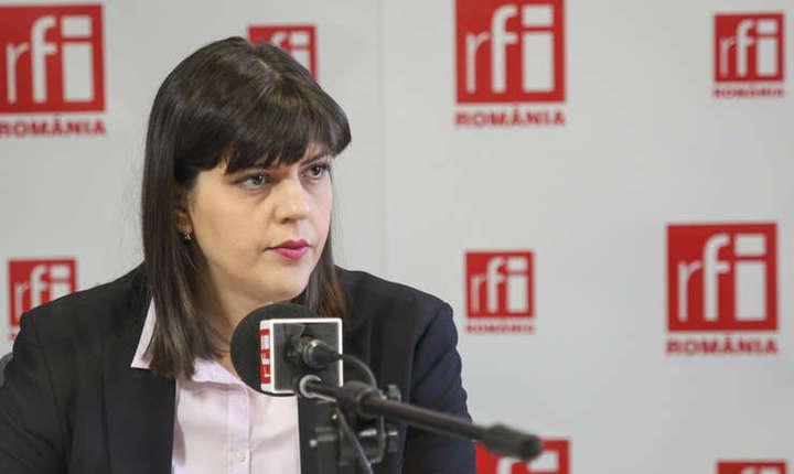 Laura Codruţa Kovesi, în studioul RFI (arhivă)