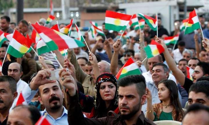 Manifestatie a kurzilor la Kirkuk în favoarea independentei, 17 august 2017