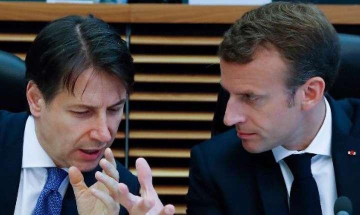 La Roma, Emmanuel Macron îl întâlneste pe premierul Giuseppe Conte.