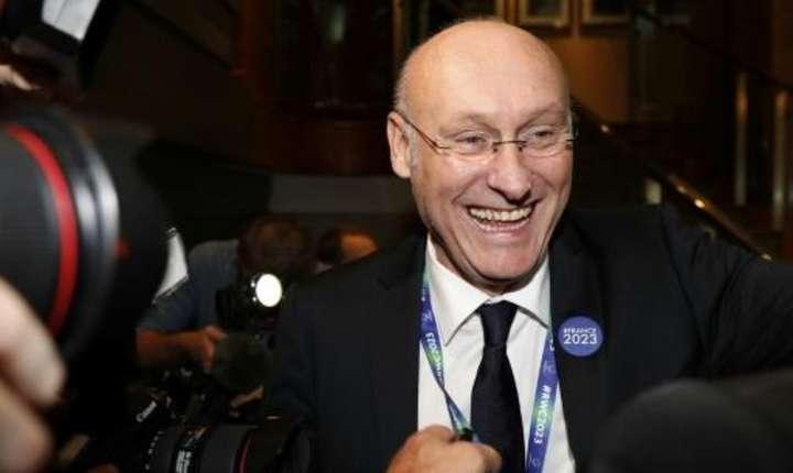 Brenard Laporte, presedintele FFR, imediat dupà desemnaera Frantei ca organizatoare a Cupei mondiale de rugby din 2023