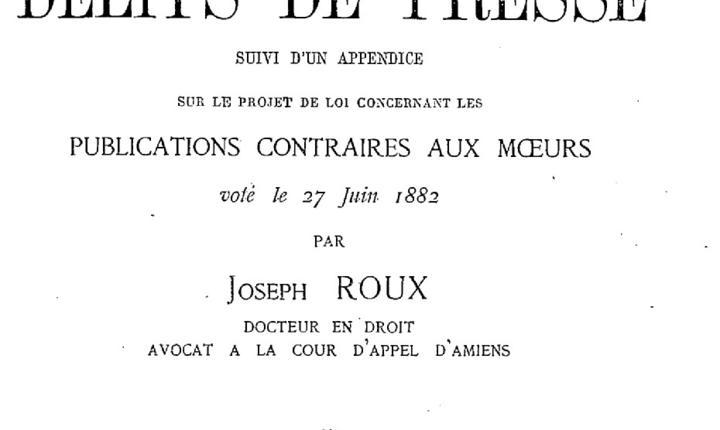 Legea din 1881 care reglementeazà presa din Franta, ar fi pusà în pericol de un proiect de lege examinat acum de Senatul de la Paris