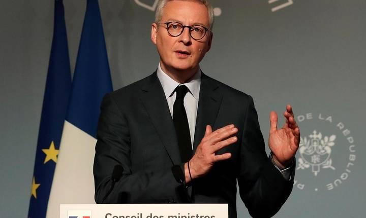 Bruno Le Maire, ministrul francez al Economiei, la o conferintà de presà în 25 martie 2020
