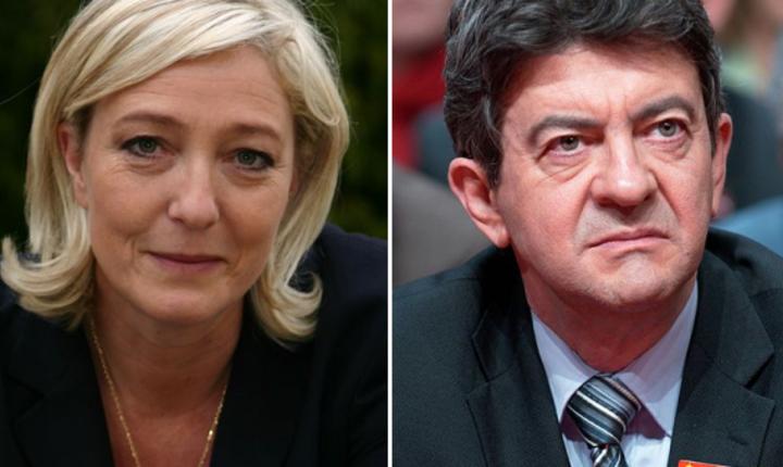 Marine Le Pen si Jean-Luc Mélenchon